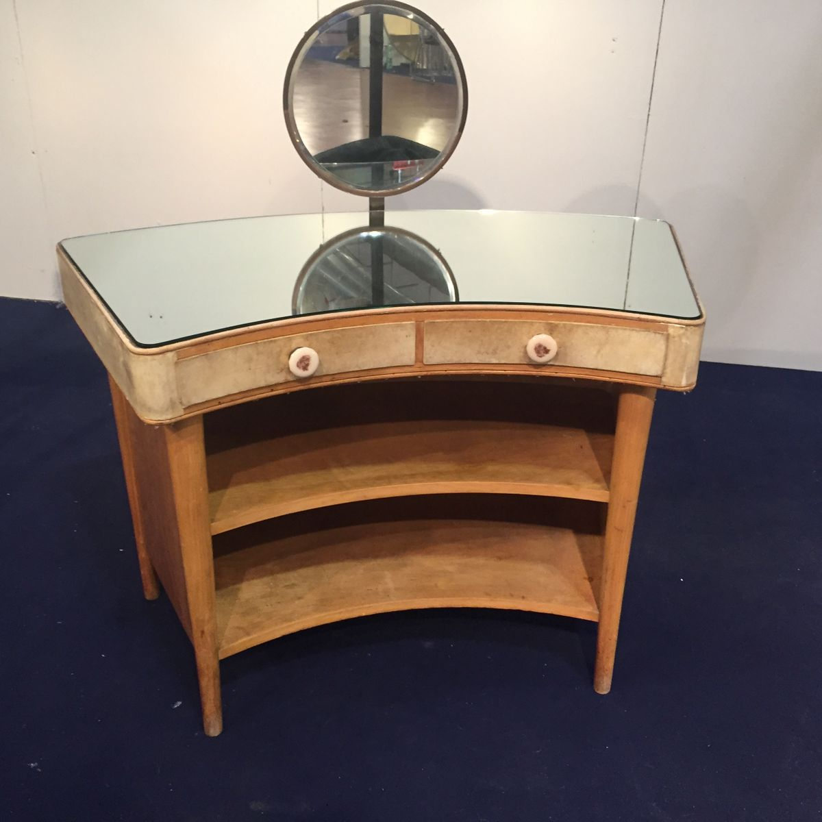 Table Dressing Wood 1950 Scarved ~ Wood and parchment dressing table s for sale at pamono