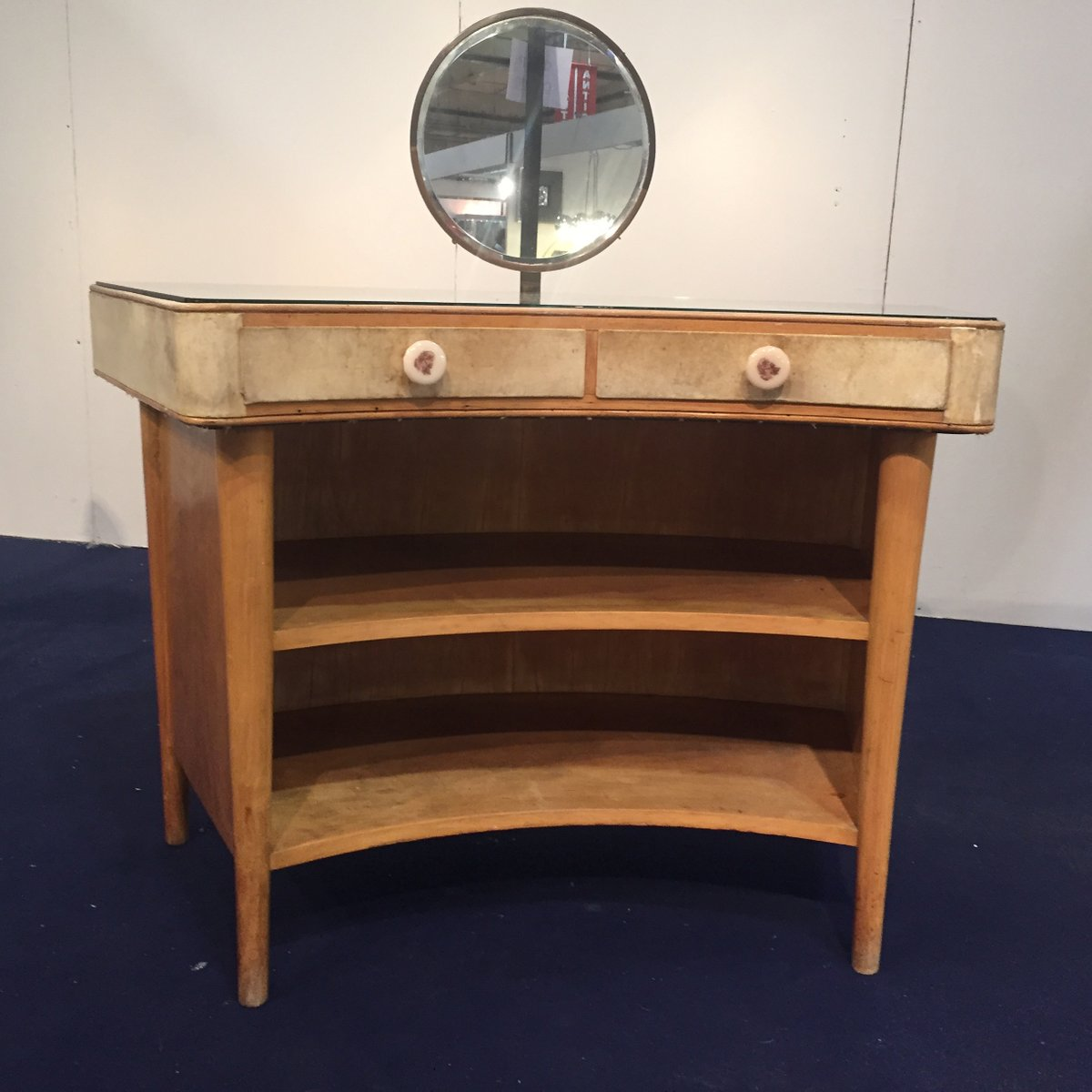 Wood and parchment dressing table s for sale at pamono