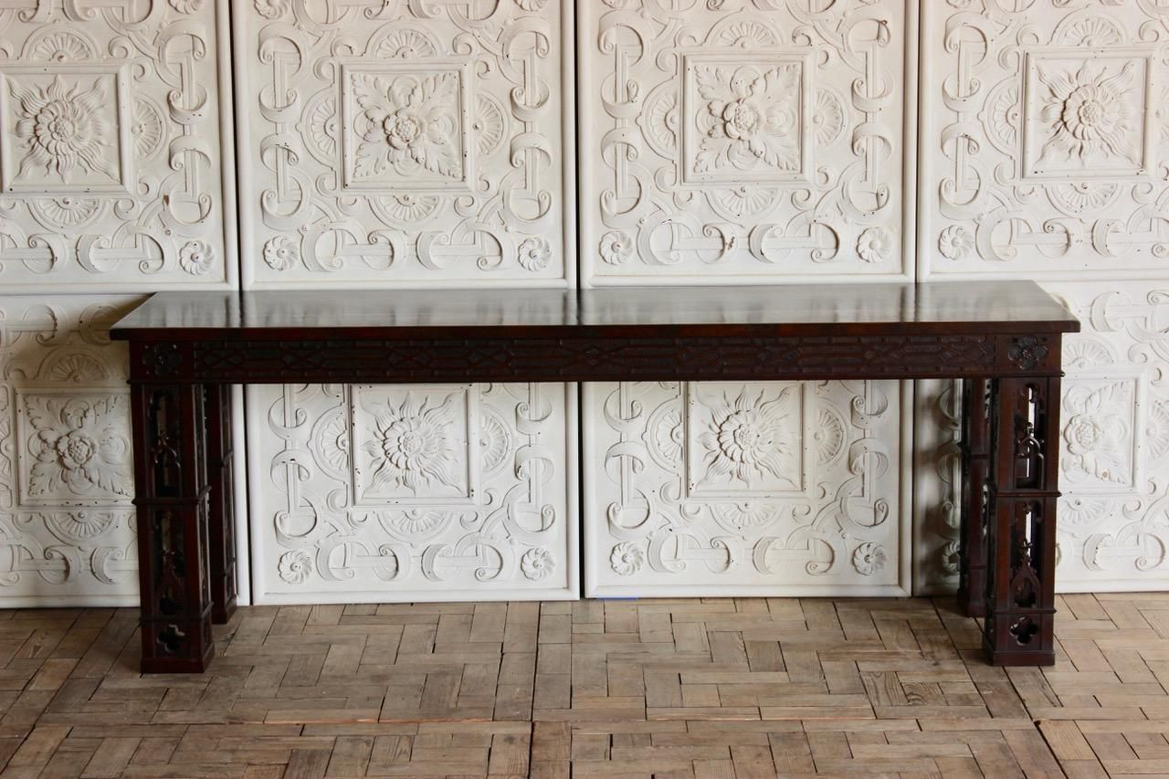 Large Vintage Console Table in the Chippendale Style for sale at Pamono