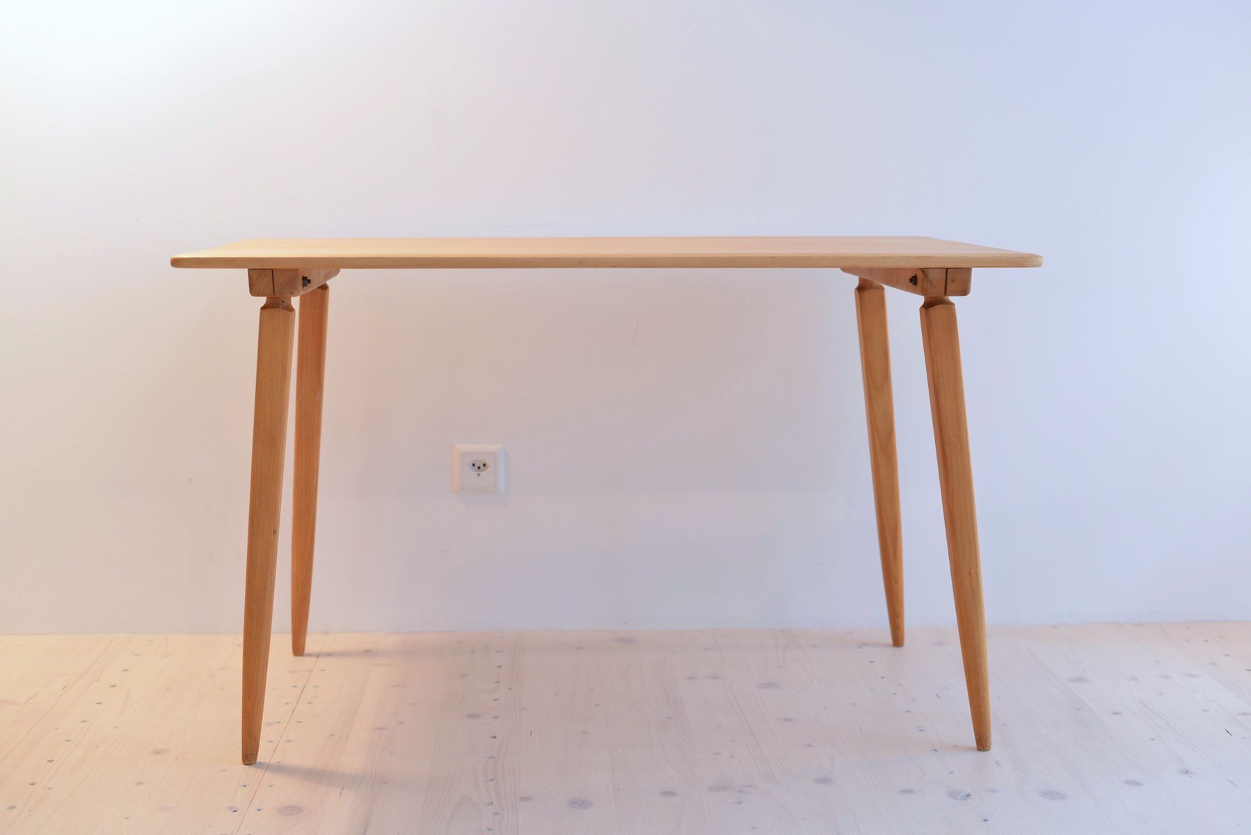 Vintage Pinewood Dining Table by Jacob Müller for Wohnhilfe Zürich ...