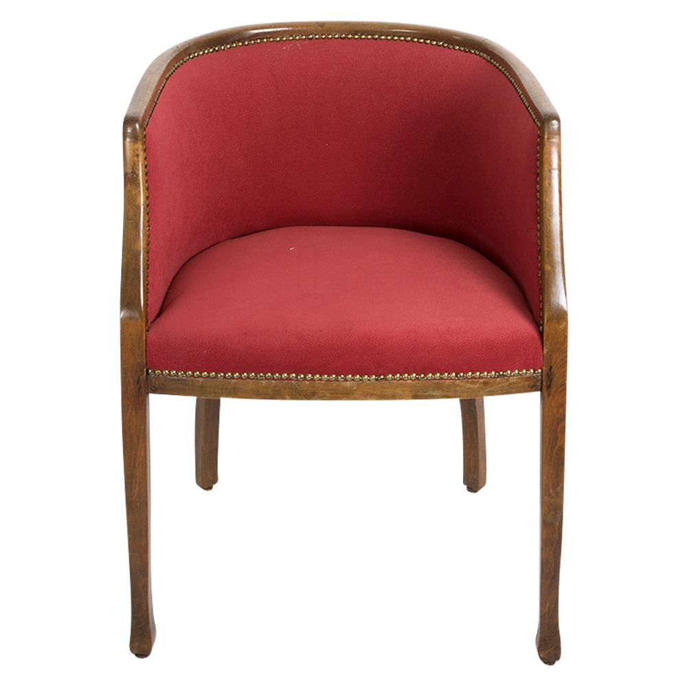 art deco nussholz armlehnstuhl bei pamono kaufen. Black Bedroom Furniture Sets. Home Design Ideas