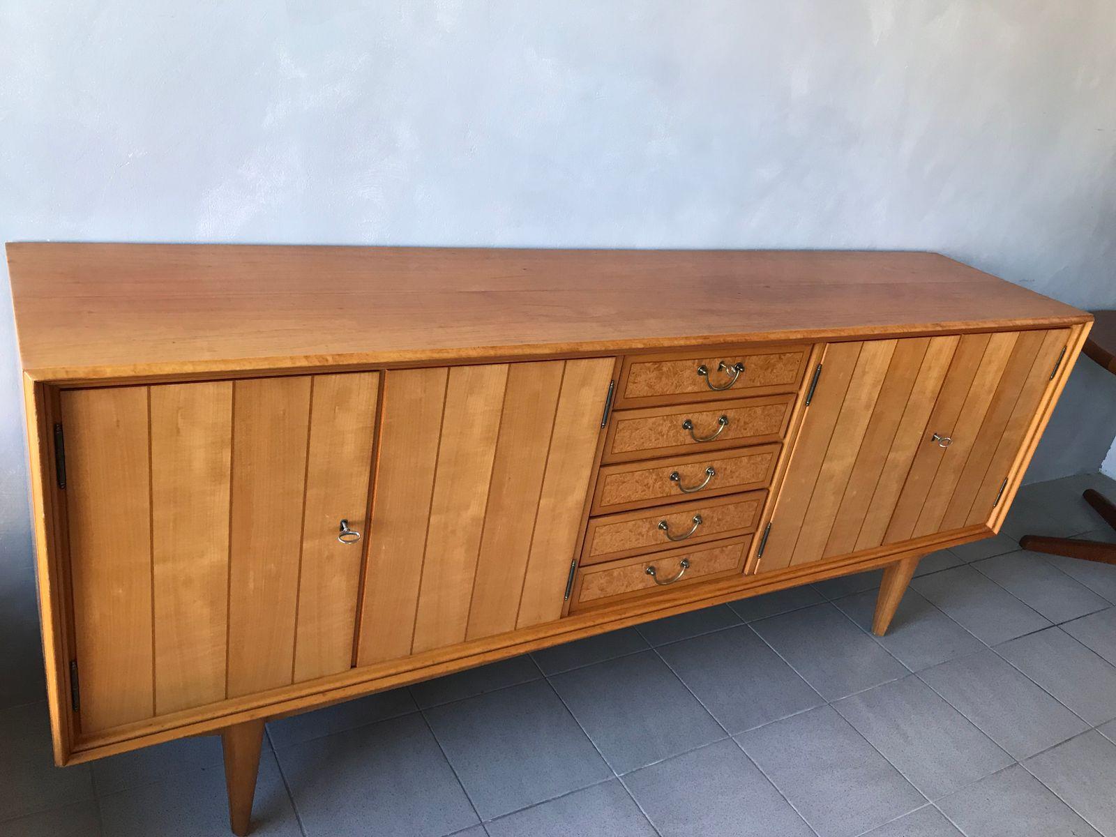 vintage sideboard aus kirschholz bei pamono kaufen. Black Bedroom Furniture Sets. Home Design Ideas