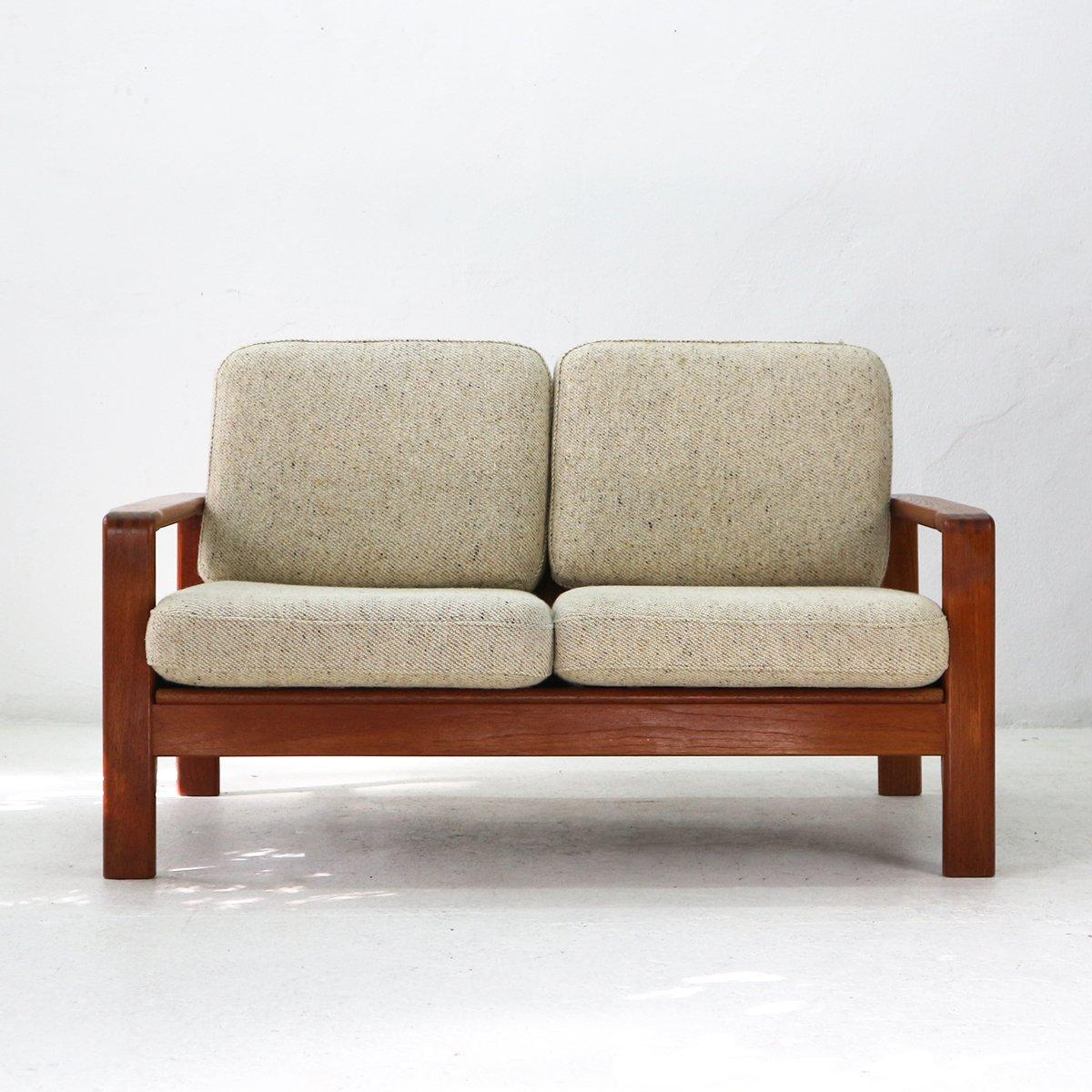 2 sitzer sofa aus teal wolle 1970er bei pamono kaufen. Black Bedroom Furniture Sets. Home Design Ideas