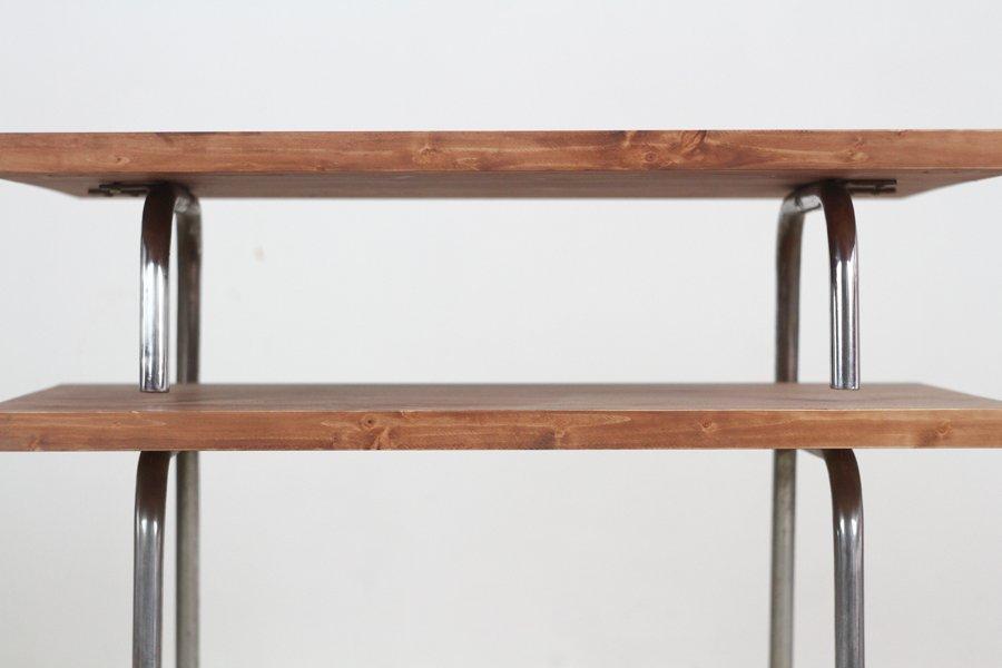 vintage bauhaus beistelltisch aus stahlrohr bei pamono kaufen. Black Bedroom Furniture Sets. Home Design Ideas