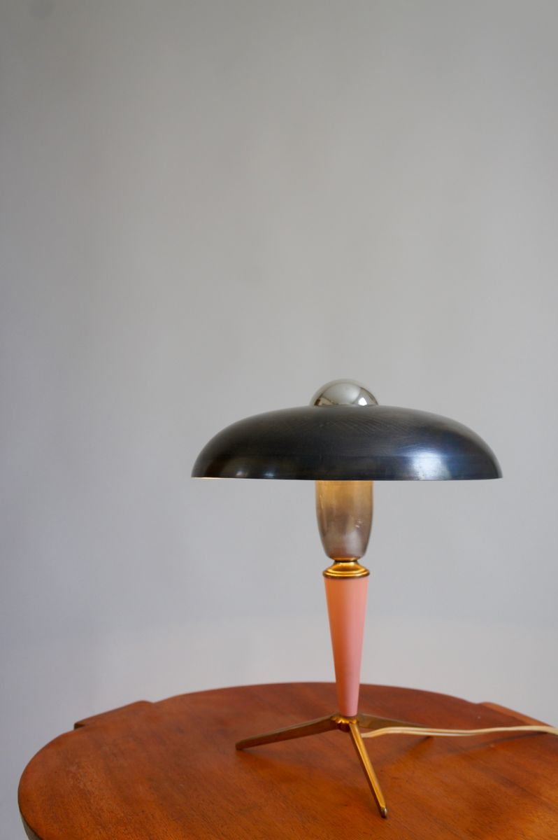 Vintage Tripod Table Lamp By Louis Kalff For Philips, 1950s For Sale At  Pamono
