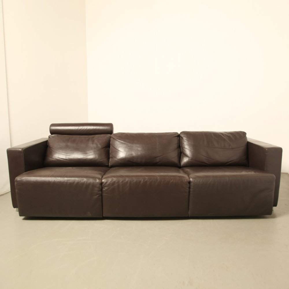 vintage brown leather sofa vintage modular brown leather sofa by walter knoll for 6782