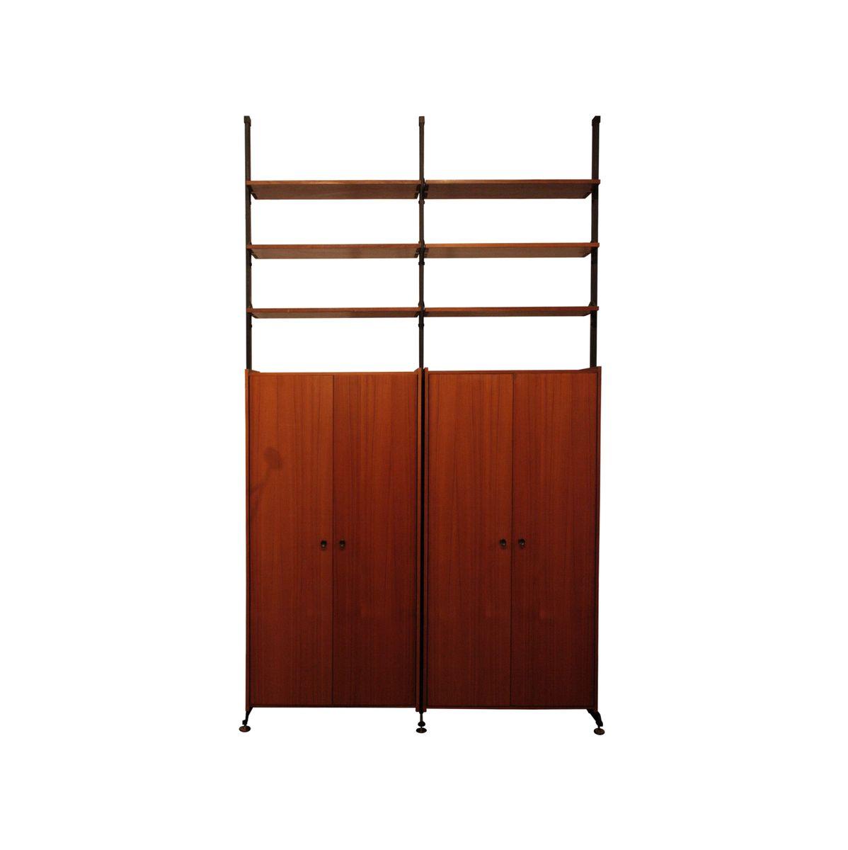 modulares regalsystem aus palisander messing 1950er bei. Black Bedroom Furniture Sets. Home Design Ideas