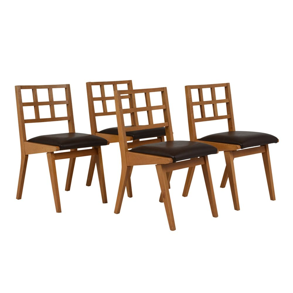 Mid century modern dining chairs 1960s set of 4 for sale for Designer dining chairs sale