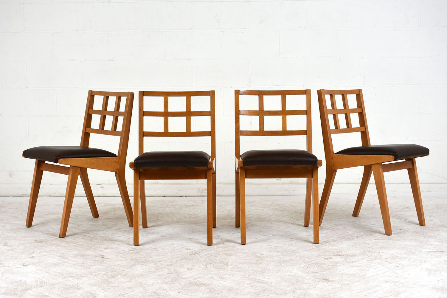 Mid century modern dining chairs 1960s set of 4 for sale for Modern dining chairs ireland