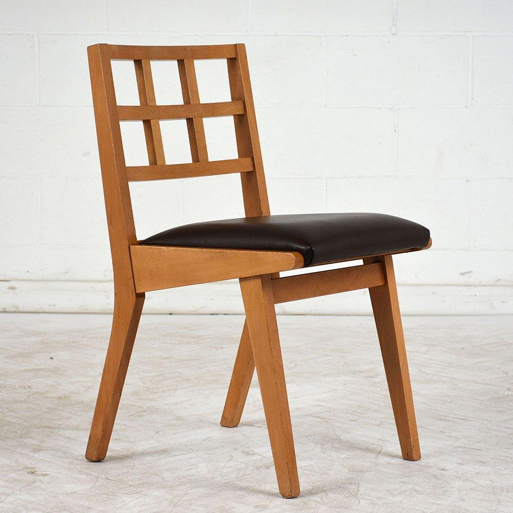 mid century modern esszimmerst hle 1960er 4er set bei. Black Bedroom Furniture Sets. Home Design Ideas