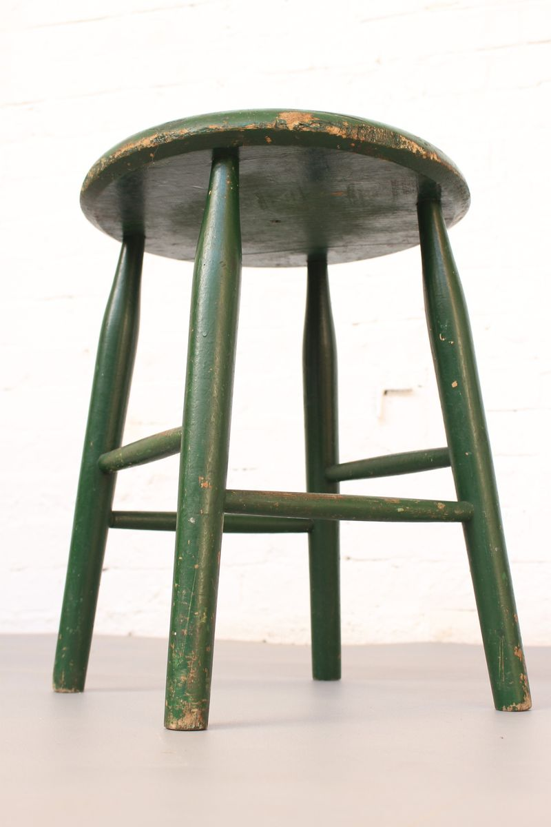 Industrial Teak Stool from Pastoe, 1960s for sale at Pamono