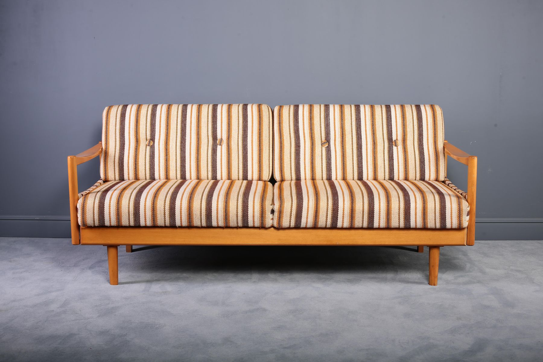 Extendable Oak Daybed or Sofa, 1960s for sale at Pamono