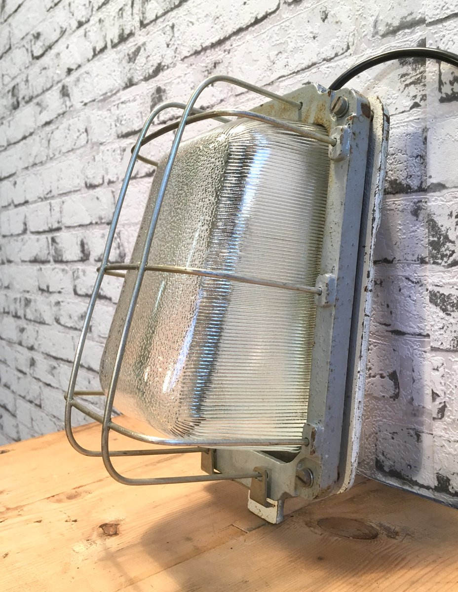 Vintage Cast Iron Industrial Wall Lamp For Sale At Pamono Wire Light