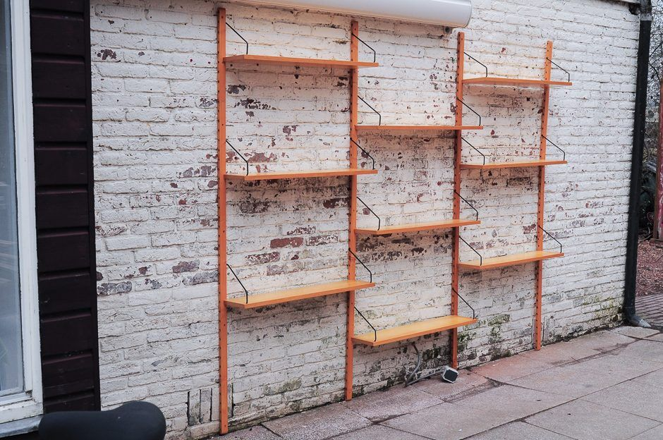 d nisches birke wandregal von poul cadovius f r royal. Black Bedroom Furniture Sets. Home Design Ideas