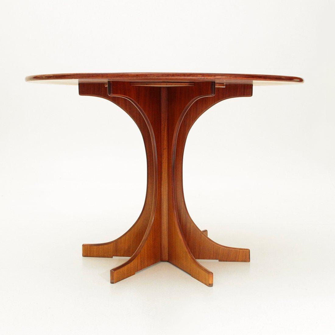 runder italienischer esstisch aus holz 1960er bei pamono kaufen. Black Bedroom Furniture Sets. Home Design Ideas