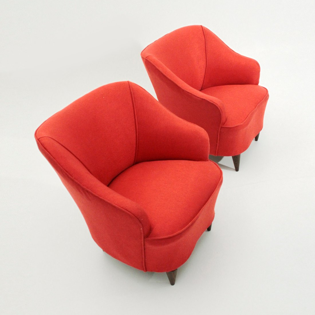 Italian red armchairs 1940s set of 2 for sale at pamono for 2 armchairs for sale