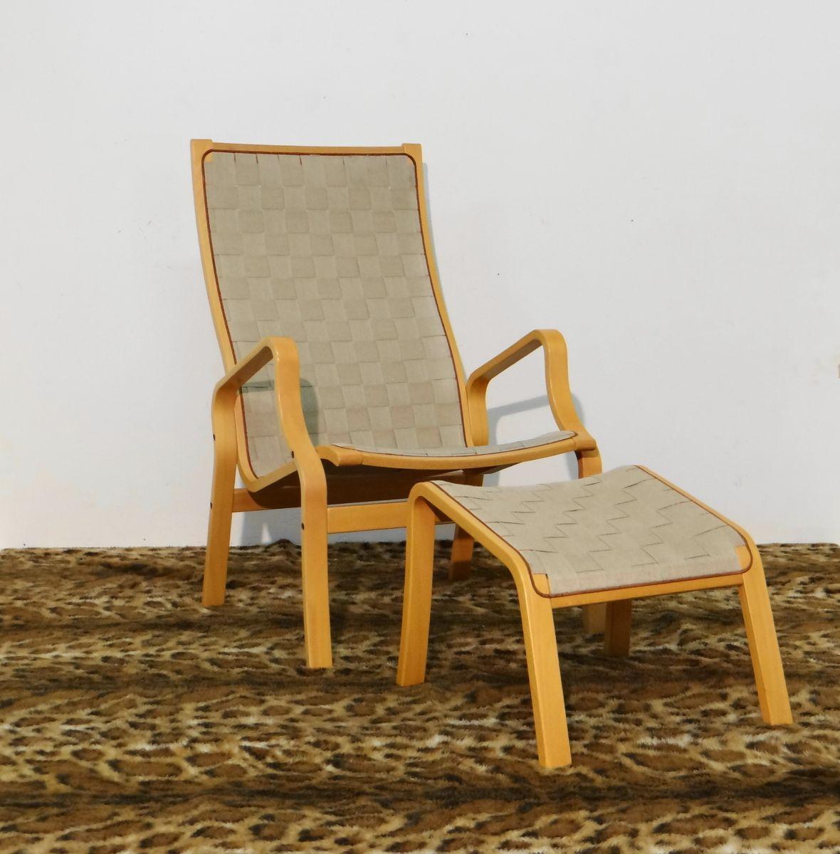 Swedish Lounge Chair U0026 Ottoman, 1960s