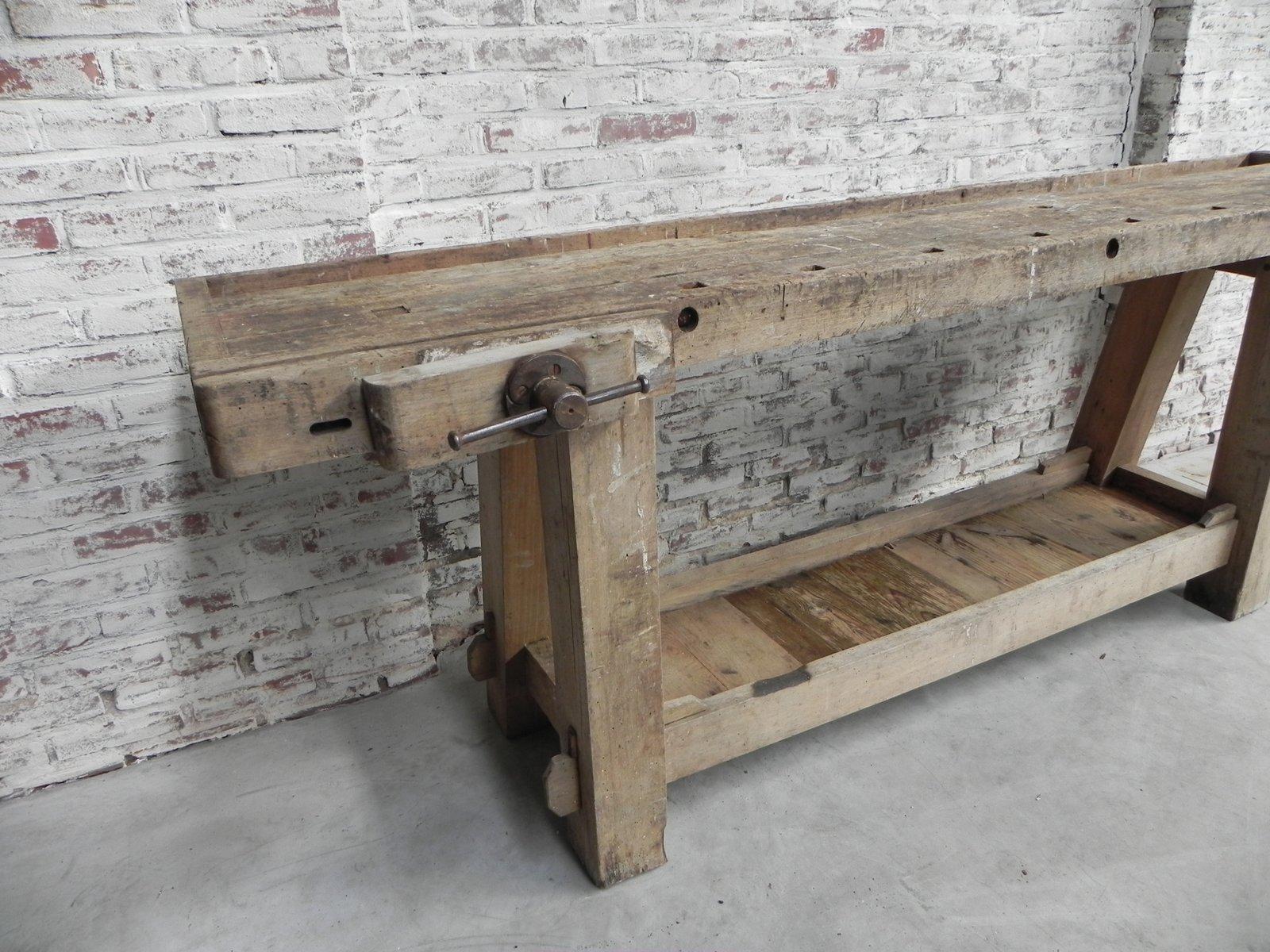 Tavoli Da Lavoro Vintage : Banco da lavoro vintage industriale in vendita su pamono