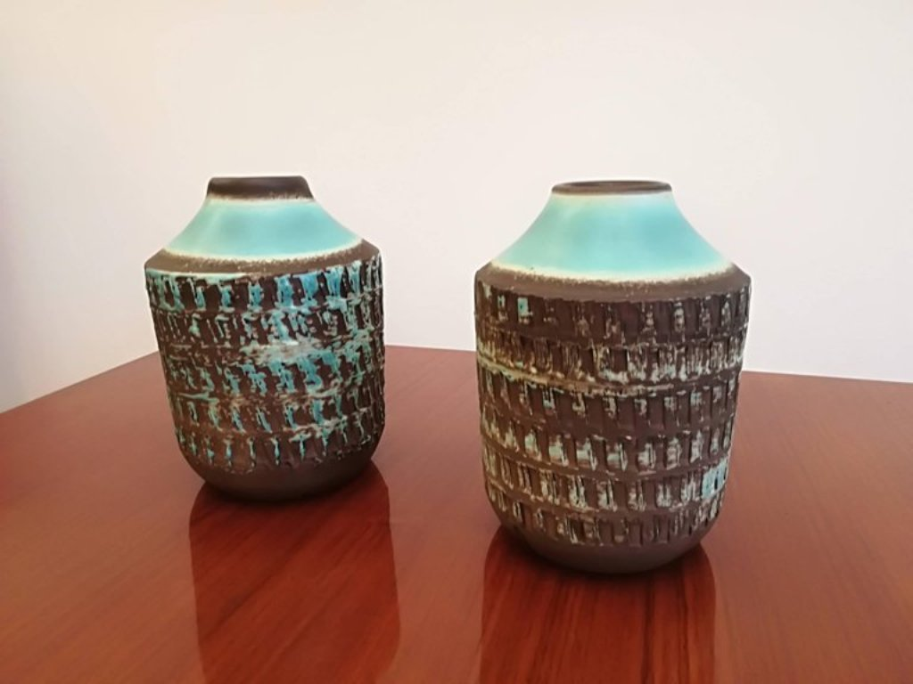 art d co keramik vasen 2er set bei pamono kaufen. Black Bedroom Furniture Sets. Home Design Ideas
