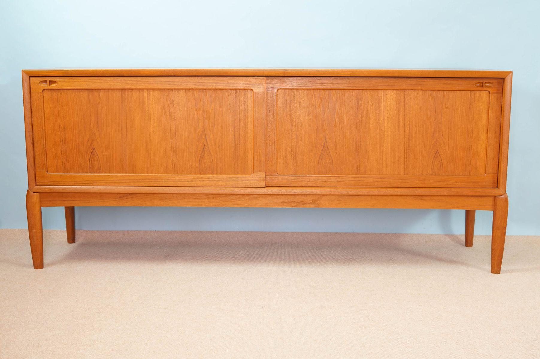 vintage teak sideboard by h w klein for bramin for sale. Black Bedroom Furniture Sets. Home Design Ideas