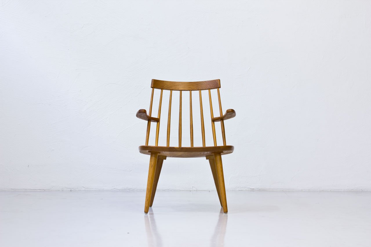 Sibbo Armchairs in Solid Oak by Yngve Ekström for Stolab, 1960s, Set of 2 for sale at Pamono