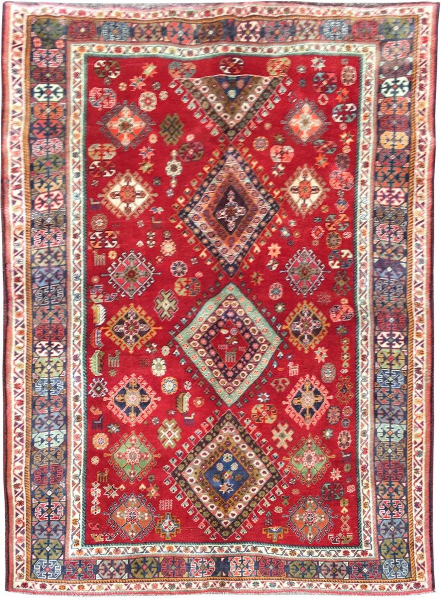 persischer vintage qashqai teppich bei pamono kaufen. Black Bedroom Furniture Sets. Home Design Ideas