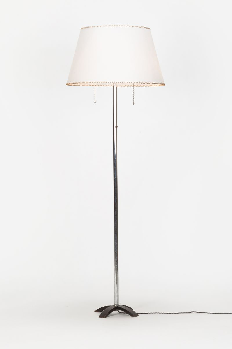 Chromed metal bauhaus floor lamp for sale at pamono chromed metal bauhaus floor lamp aloadofball Image collections