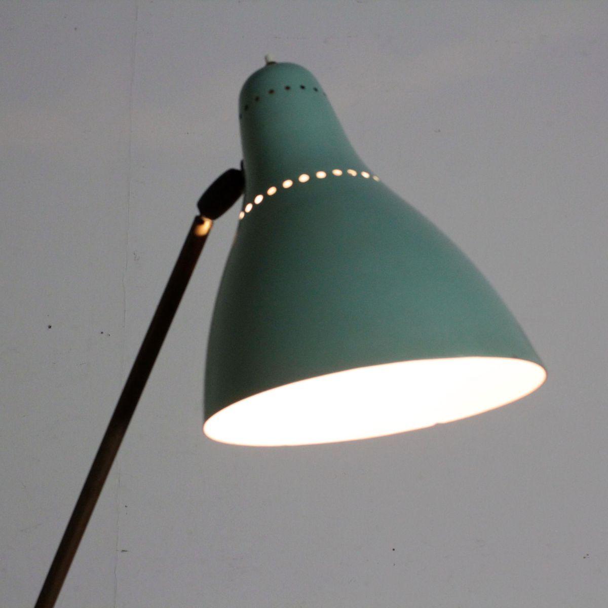 italienische stehlampe mit lackierter leuchte 1950er bei pamono kaufen. Black Bedroom Furniture Sets. Home Design Ideas