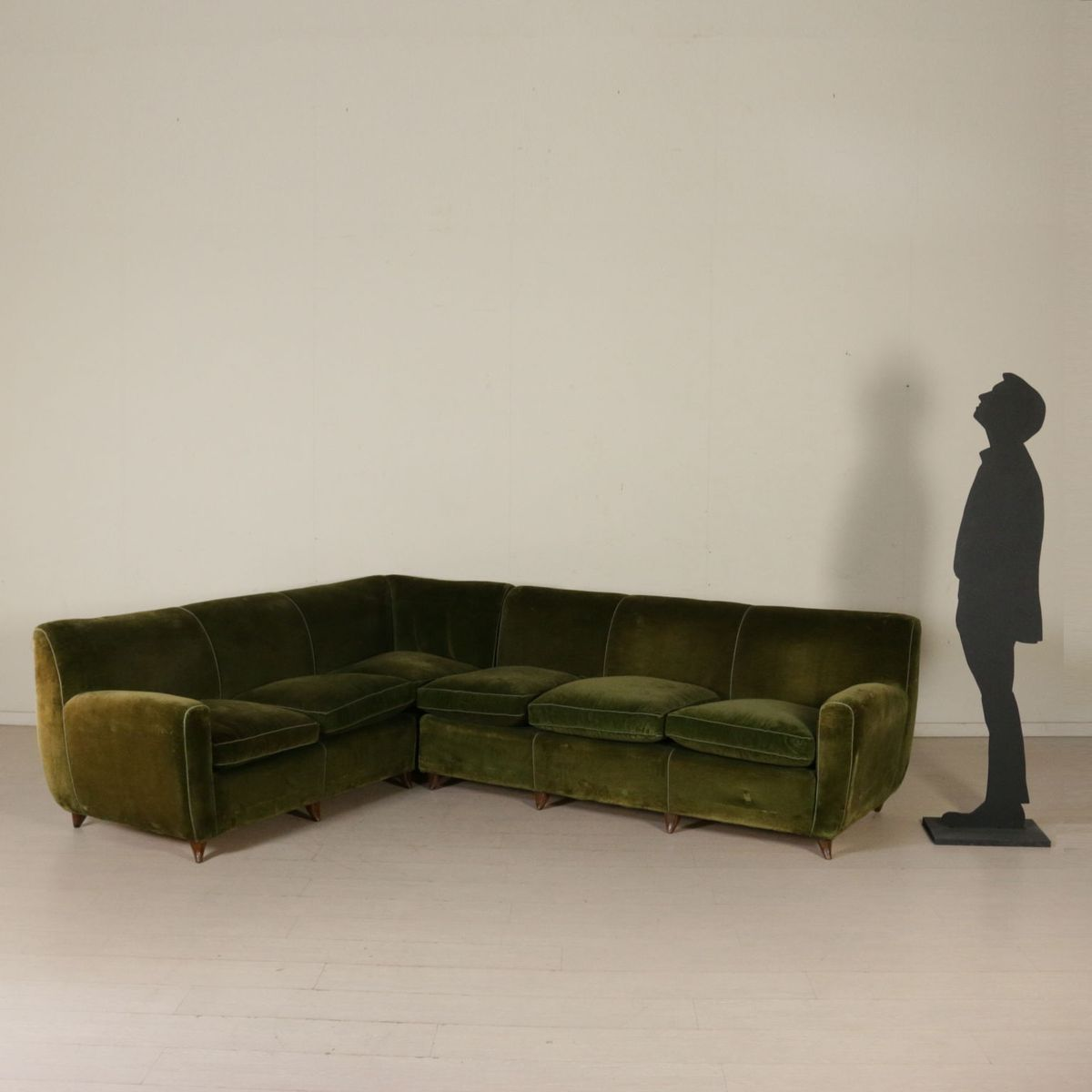 Vintage Italian Corner Sofa With Feather Cushions For Sale At Pamono