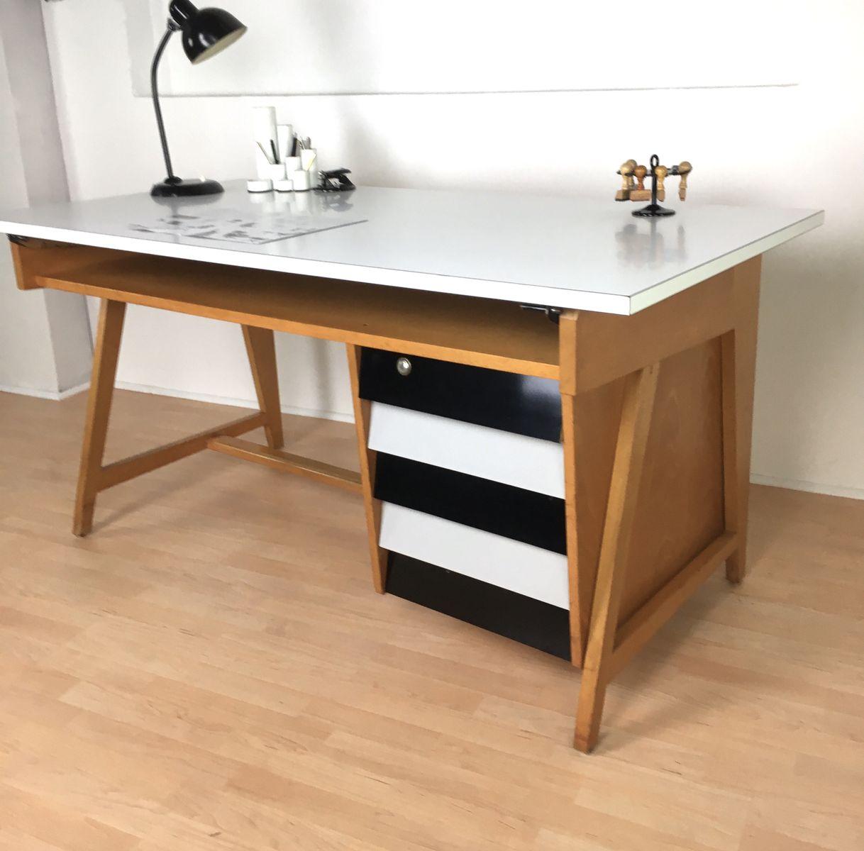 deutscher mid century schreibtisch von leuwico 1960er bei pamono kaufen. Black Bedroom Furniture Sets. Home Design Ideas