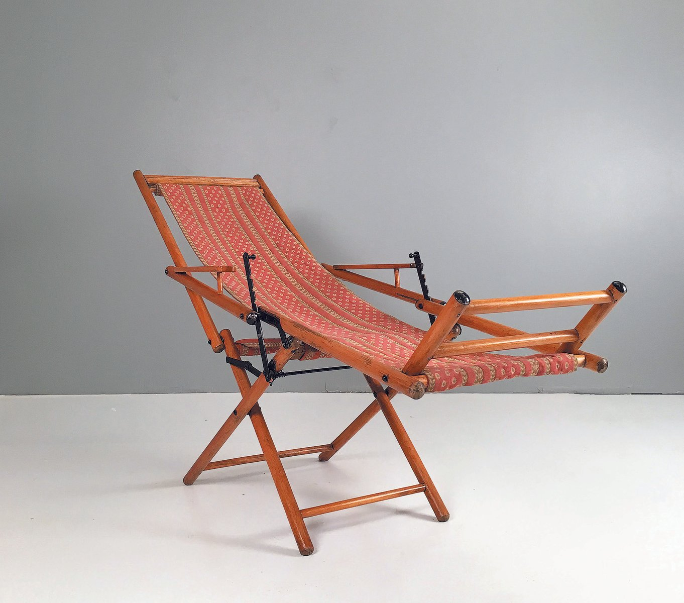 Antique Foldable Deck Chair - Antique Foldable Deck Chair For Sale At Pamono