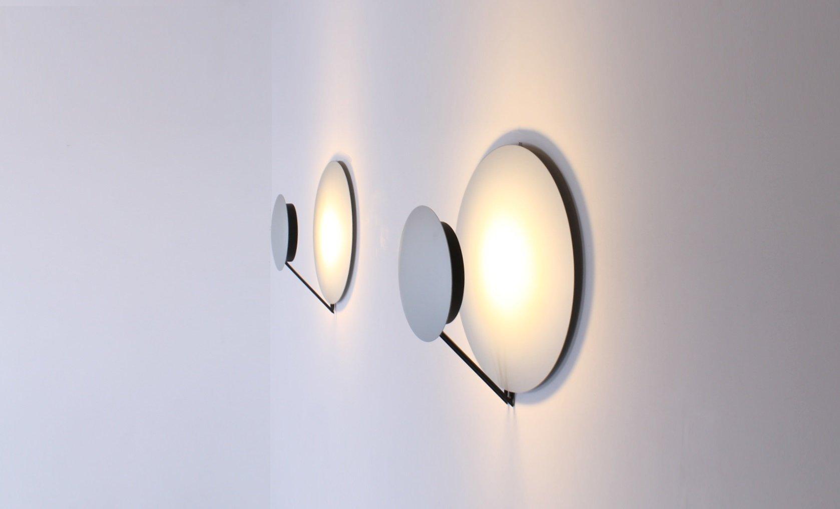 italienische aluminium vega wandlampe von cesaro amico. Black Bedroom Furniture Sets. Home Design Ideas
