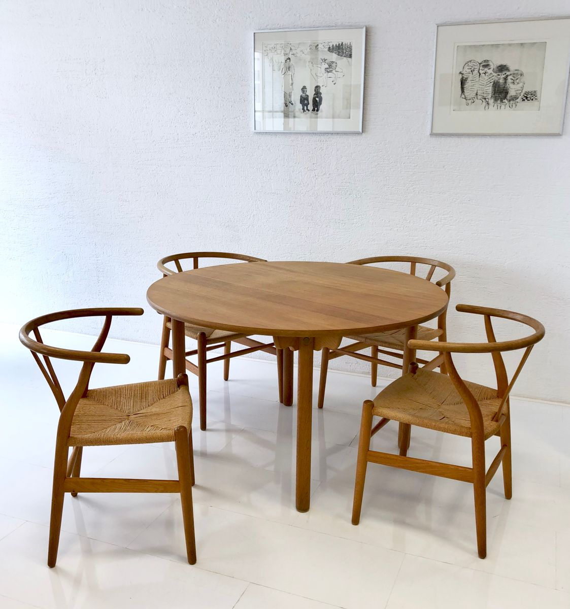CH 24 Chairs Dining Table Set By Hans J Wegner For Carl Hansen