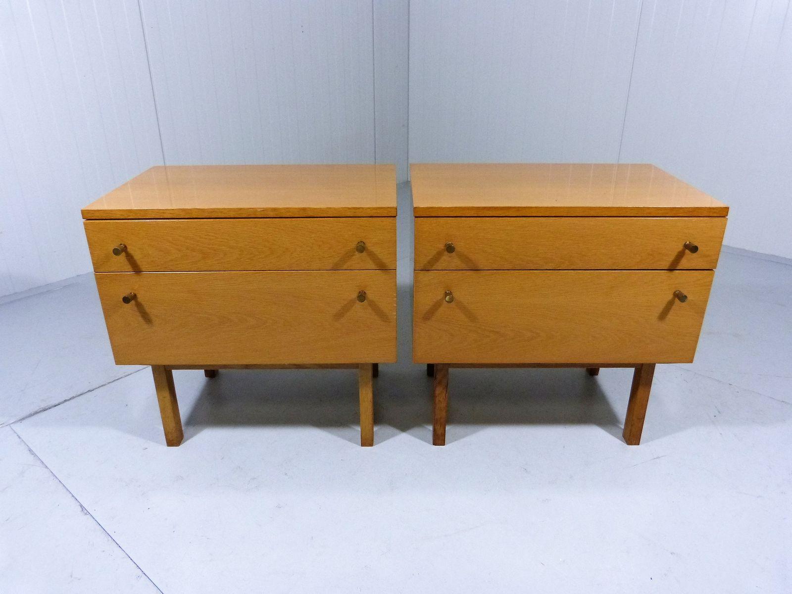 Vintage Nightstands Part - 28: Vintage Nightstands, 1950s, Set Of 2 For Sale At Pamono