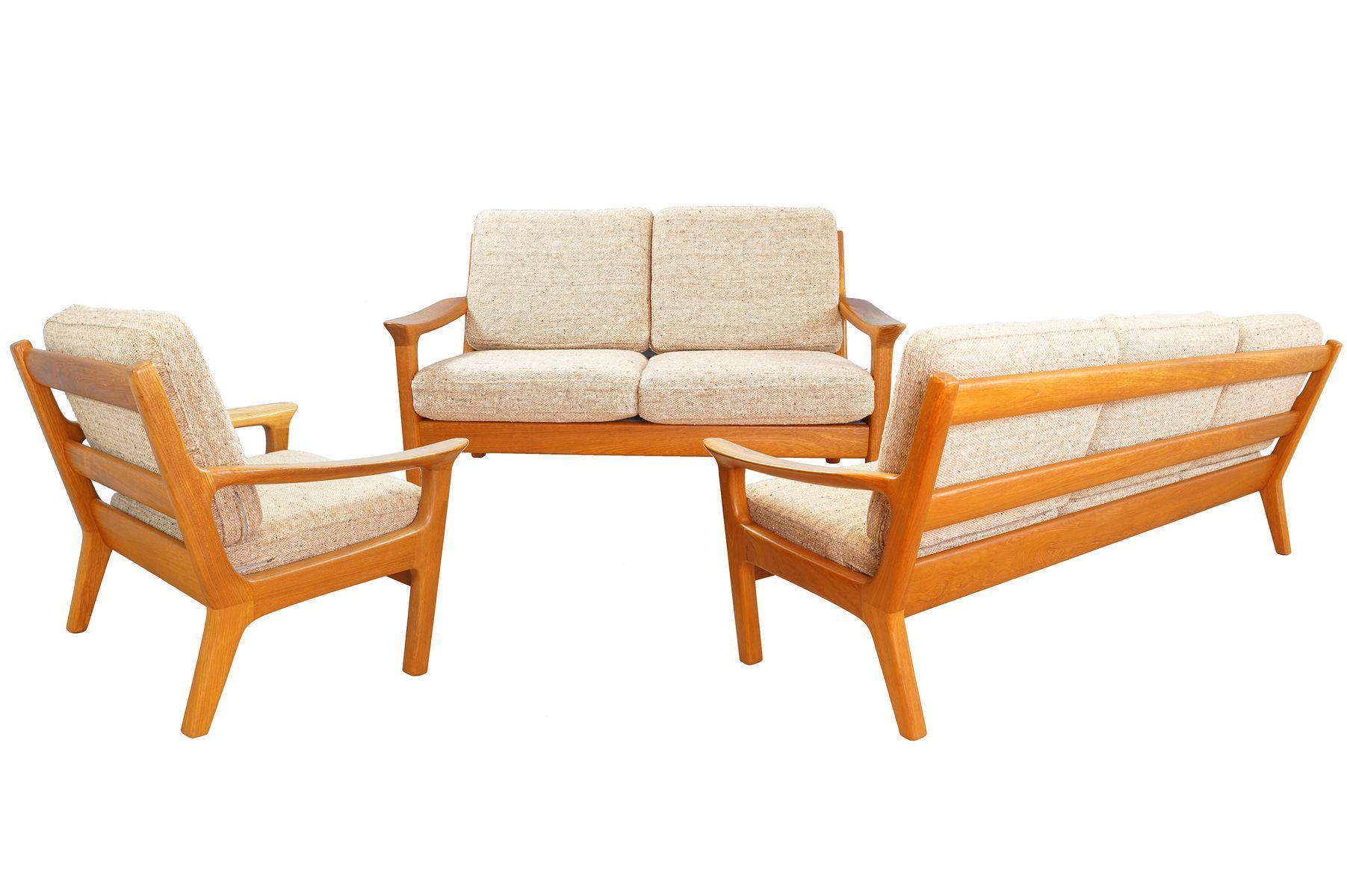 Teak Living Room Set by Juul Kristensen for Glostrup, 1960s for sale ...