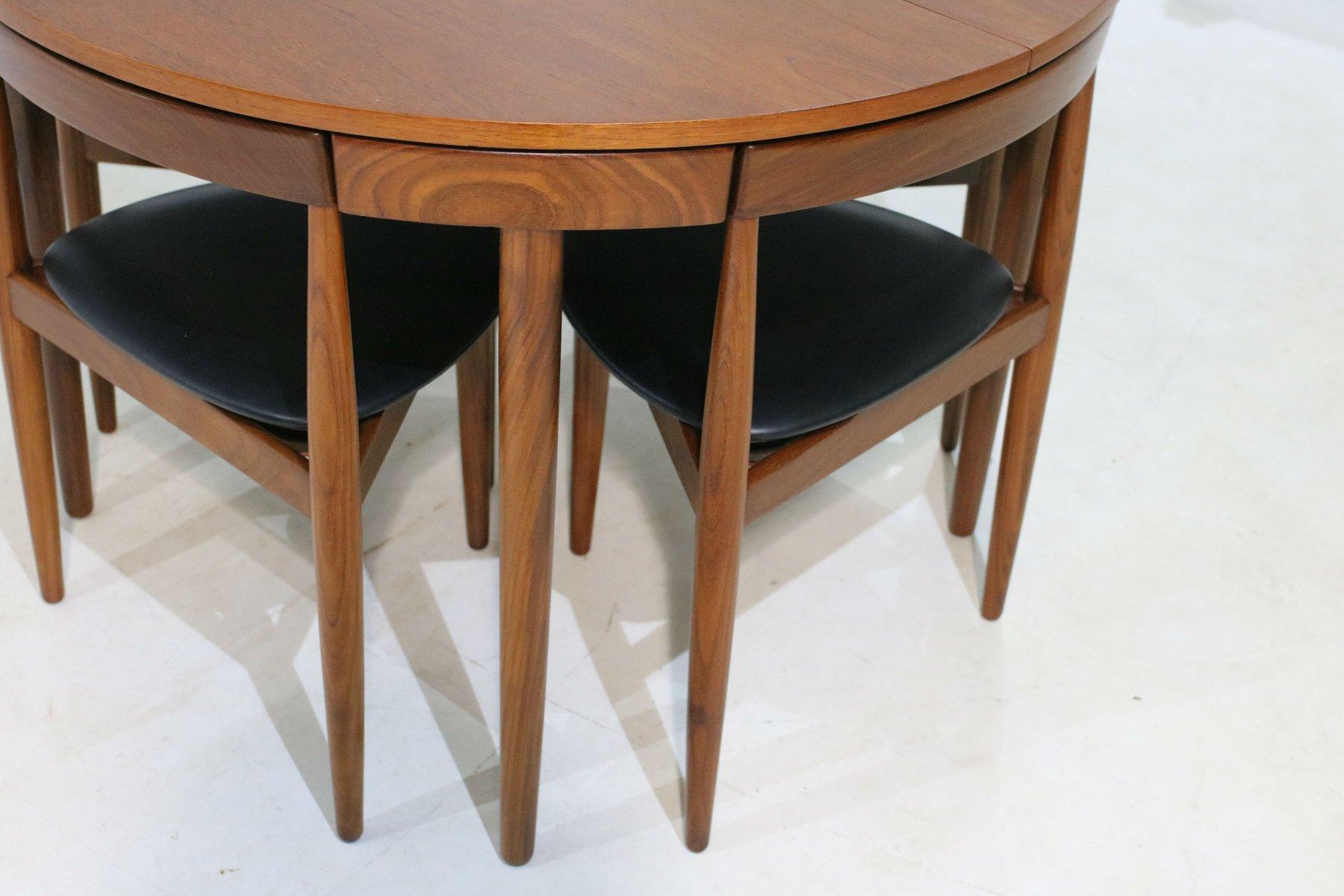 Danish Dining Table Set By Hans Olsen For Frem Rojle