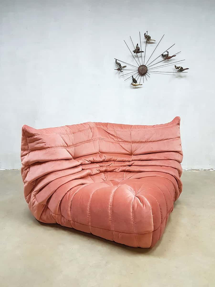 velvet togo corner sofa by michel ducaroy for ligne roset 1970s bei pamono kaufen. Black Bedroom Furniture Sets. Home Design Ideas