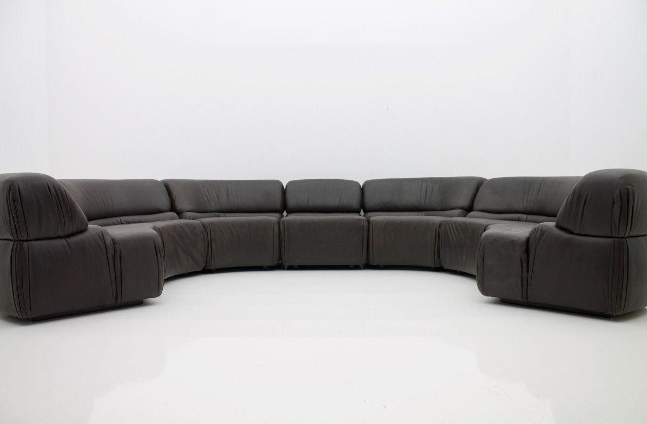 Large Cosmos Modular Leather Sofa From De Sede, 1970s