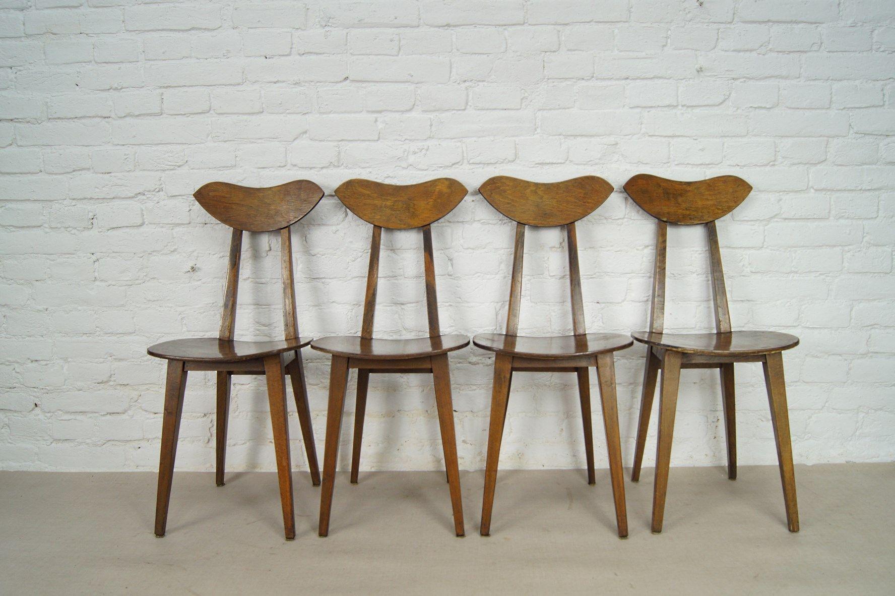 Vintage Stühle polnische vintage stühle wanda genga für drzewa obrobki 4er set