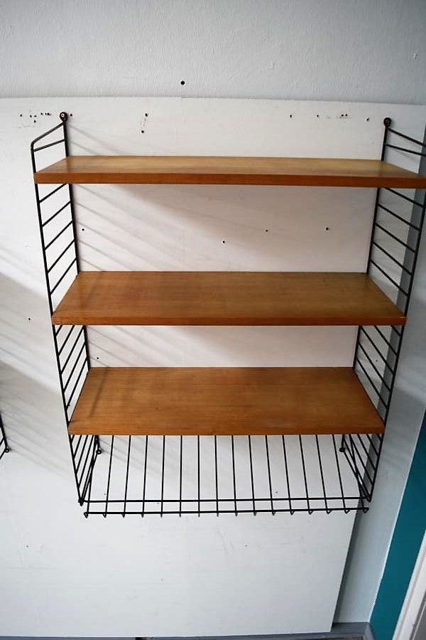 Nisse Strinning vintage wall mounted shelf by kajsa nils nisse strinning for