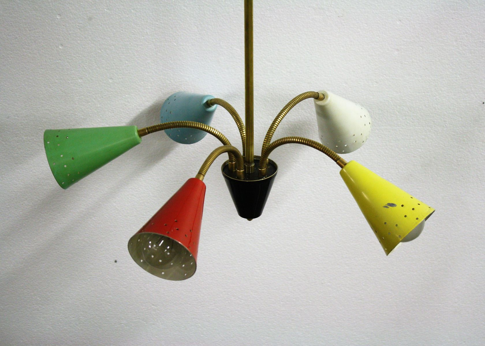 Vintage multi colored chandelier 1950s for sale at pamono vintage multi colored chandelier 1950s 18 143000 price per piece arubaitofo Image collections