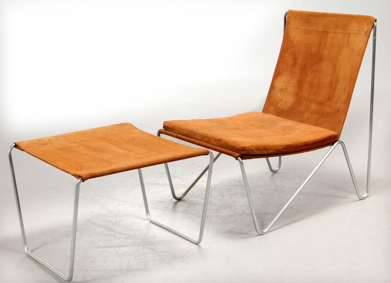 3350 3152 bachelor stuhl ottomane set von verner panton f r fritz hansen 1950er bei pamono. Black Bedroom Furniture Sets. Home Design Ideas
