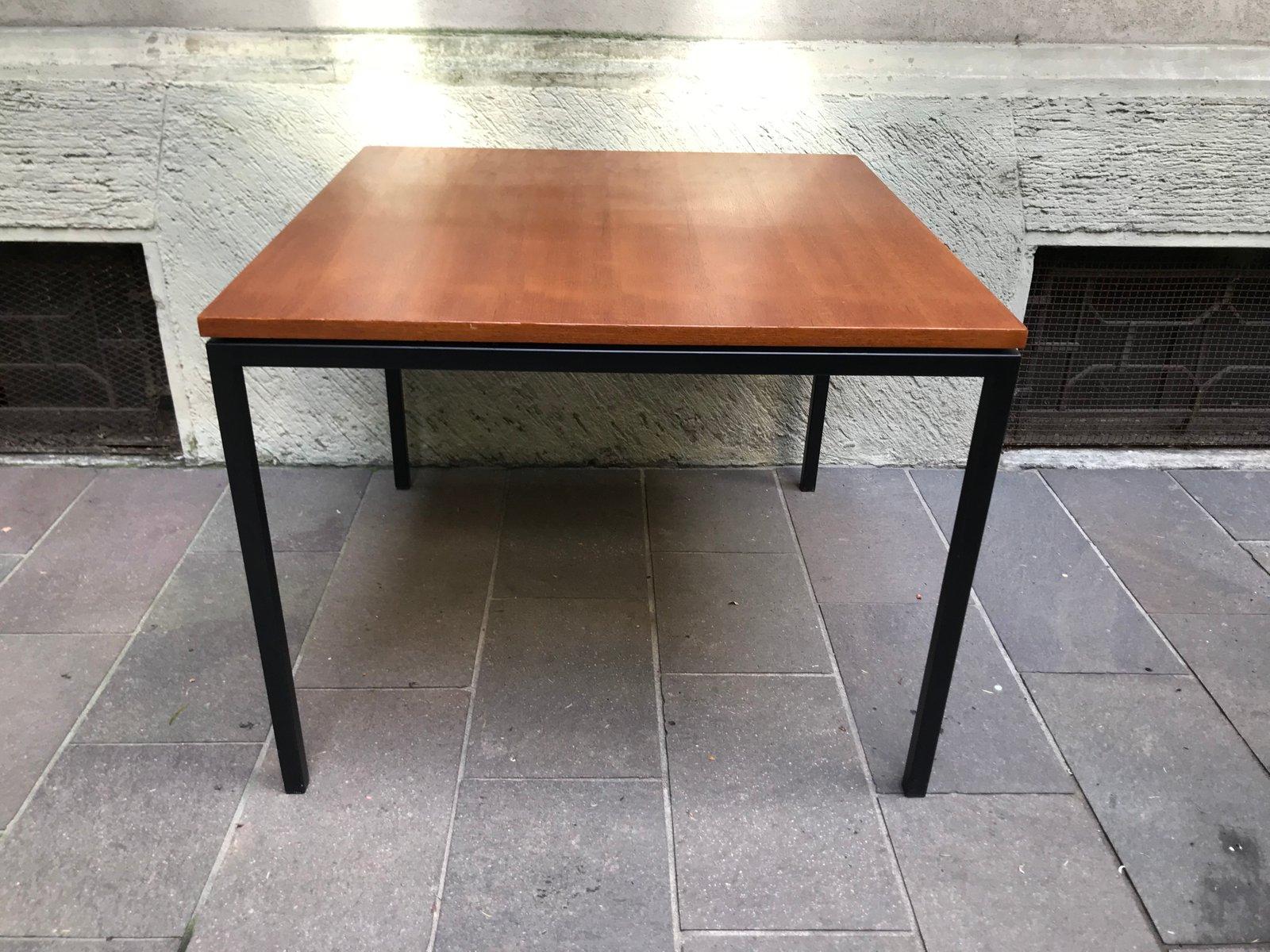 viereckiger teak tisch mit metallbeinen von paolo tiche f r arform 1950er bei pamono kaufen. Black Bedroom Furniture Sets. Home Design Ideas