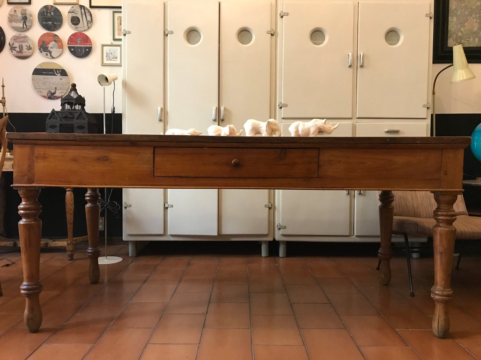 Vintage cherrywood kitchen table for sale at pamono vintage cherrywood kitchen table workwithnaturefo