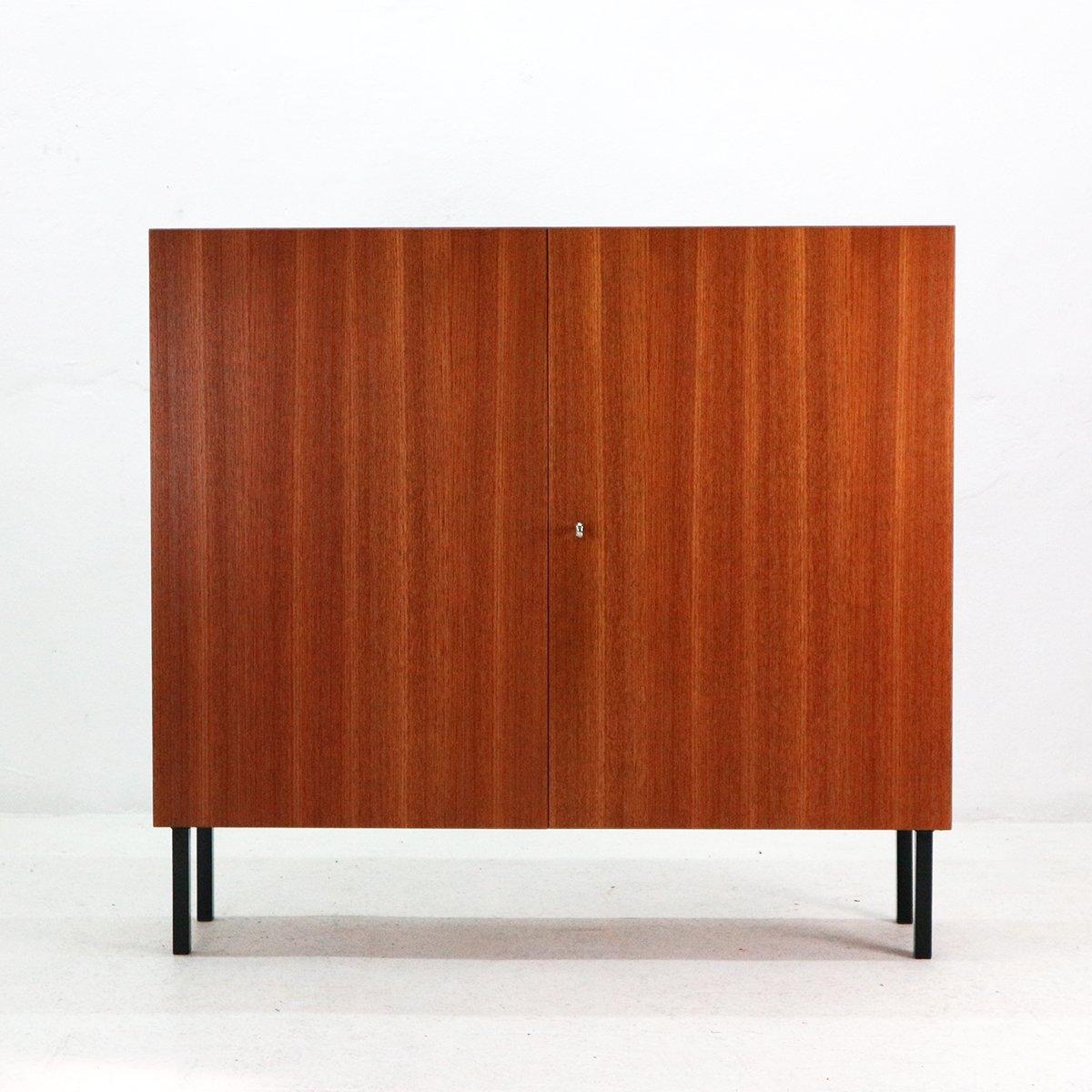 mid century teak veneered cabinet from idee m bel 1960s. Black Bedroom Furniture Sets. Home Design Ideas