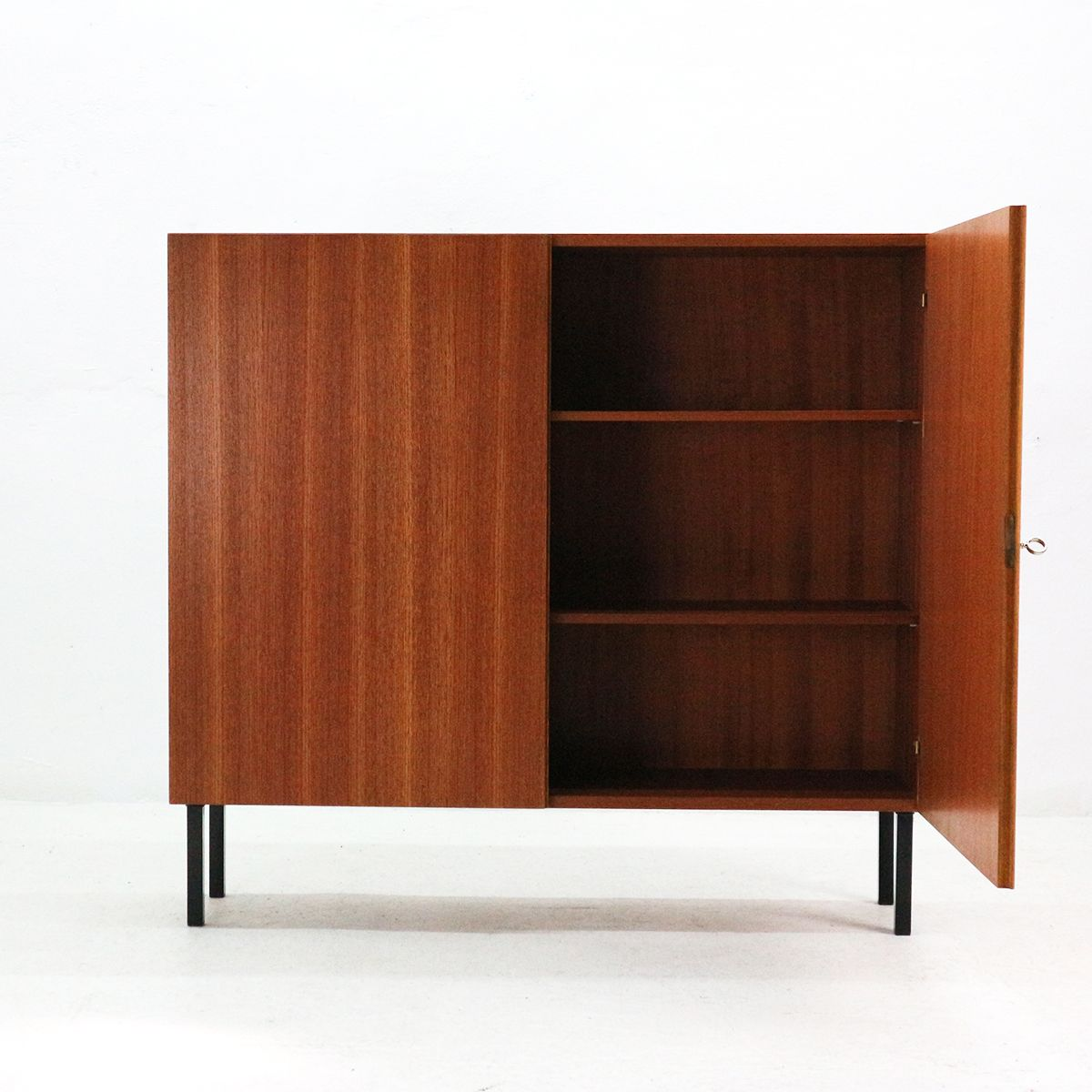 mid century teak veneered cabinet from idee m bel 1960s. Black Bedroom Furniture Sets. Home Design Ideas