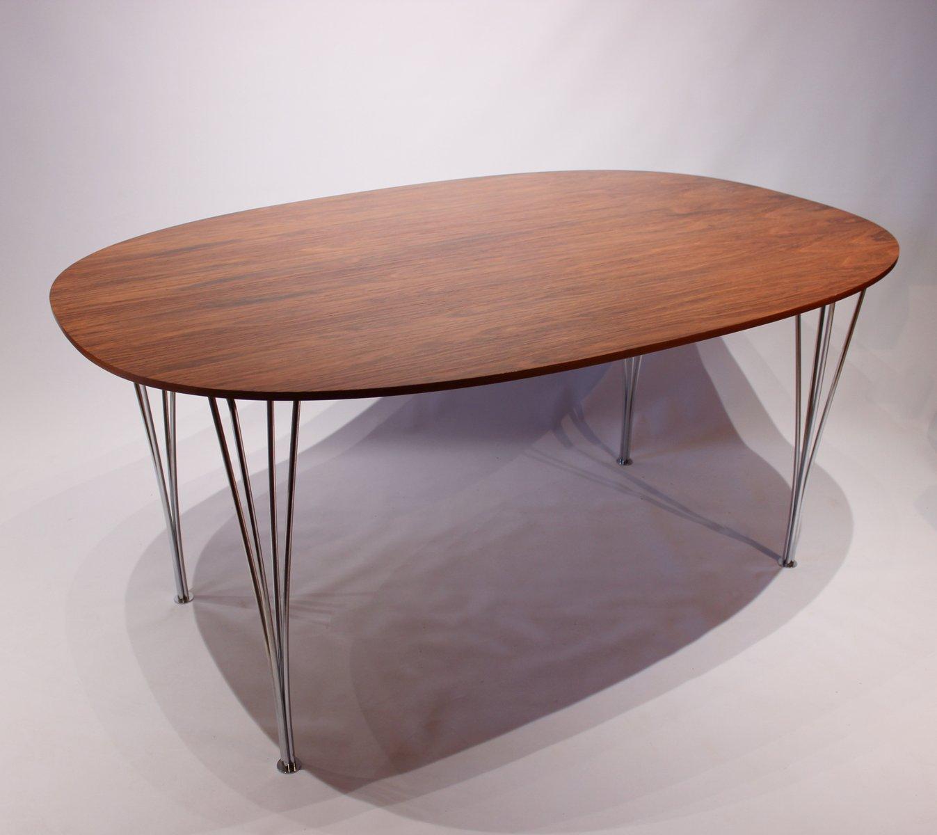 super ellipse tisch aus palisander von piet hein arne jacobsen und bruno mathsson f r fritz. Black Bedroom Furniture Sets. Home Design Ideas