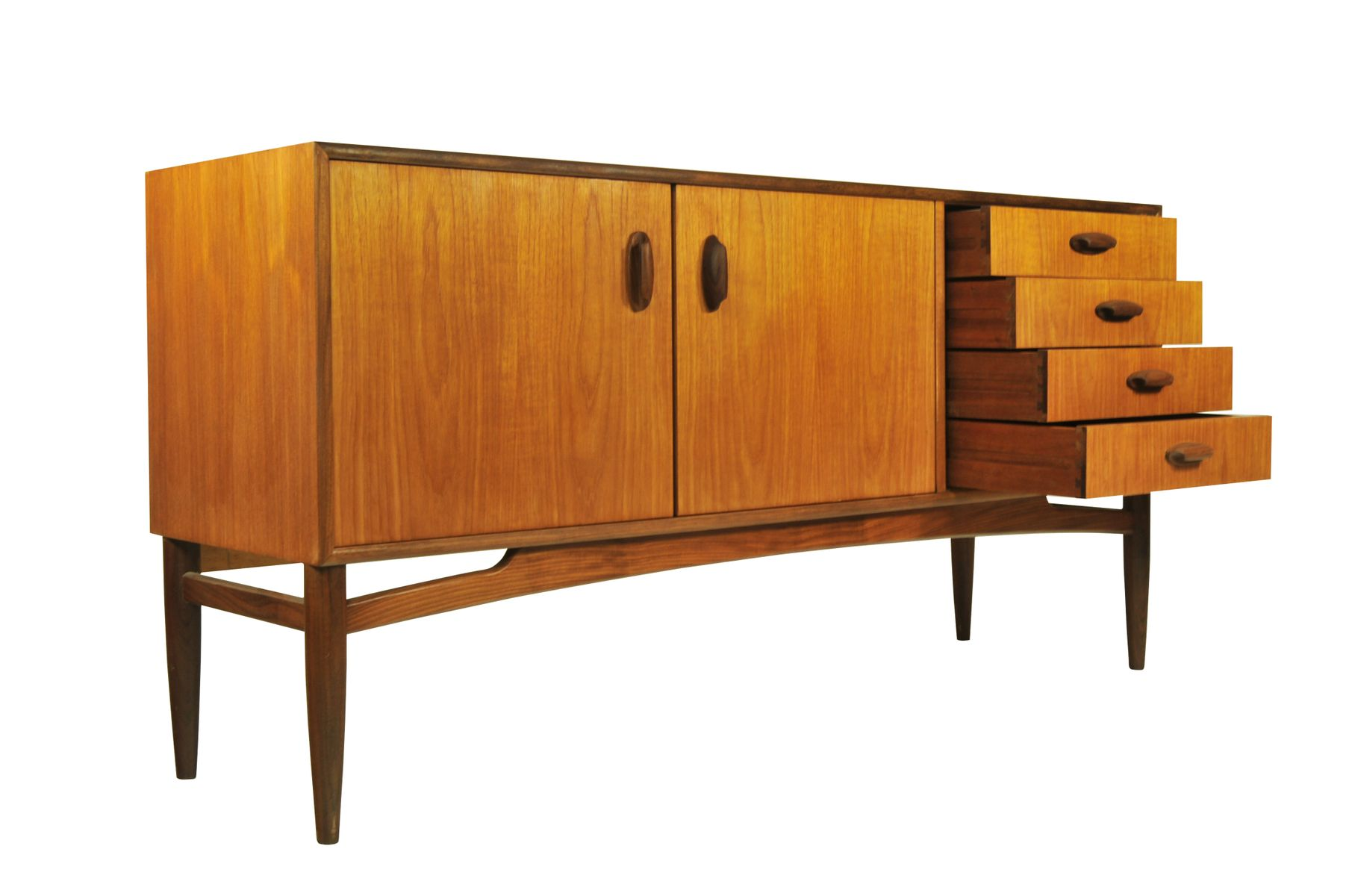 Small teak sideboard from g plan 1950s for sale at pamono for Sideboard 4 meter lang