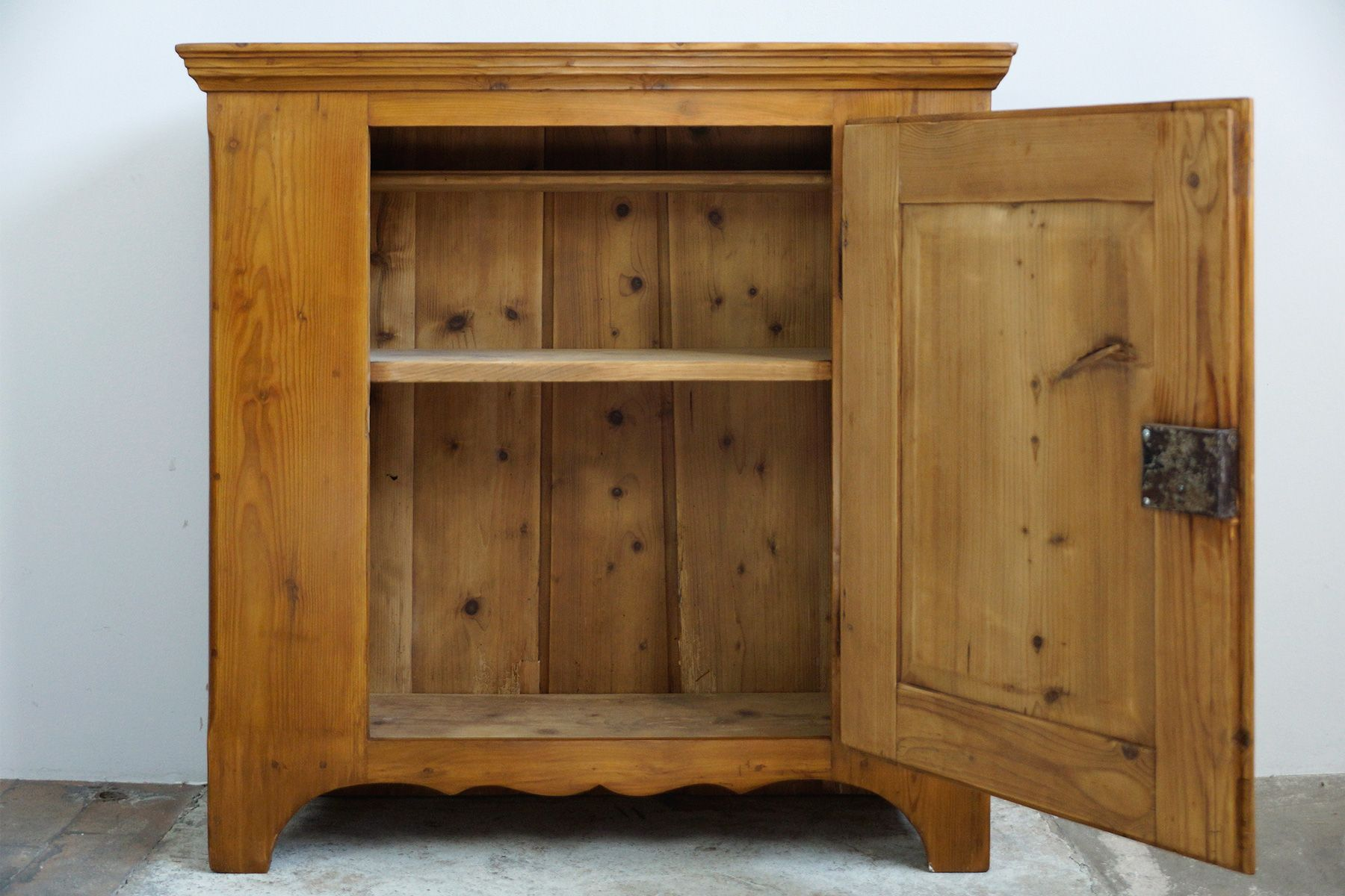 Antique Biedermeier Softwood Hall Cabinet, 1830s