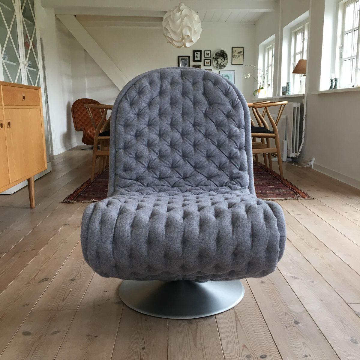 vintage 123 serie deluxe sessel von verner panton f r fritz hansen bei pamono kaufen. Black Bedroom Furniture Sets. Home Design Ideas